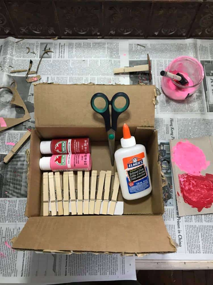 Valentine's Day Heart Stamping Materials