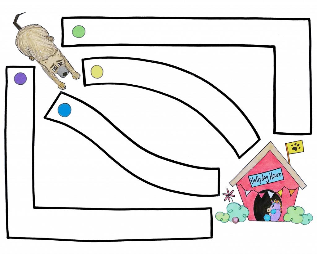 my hollydog coloring sheet