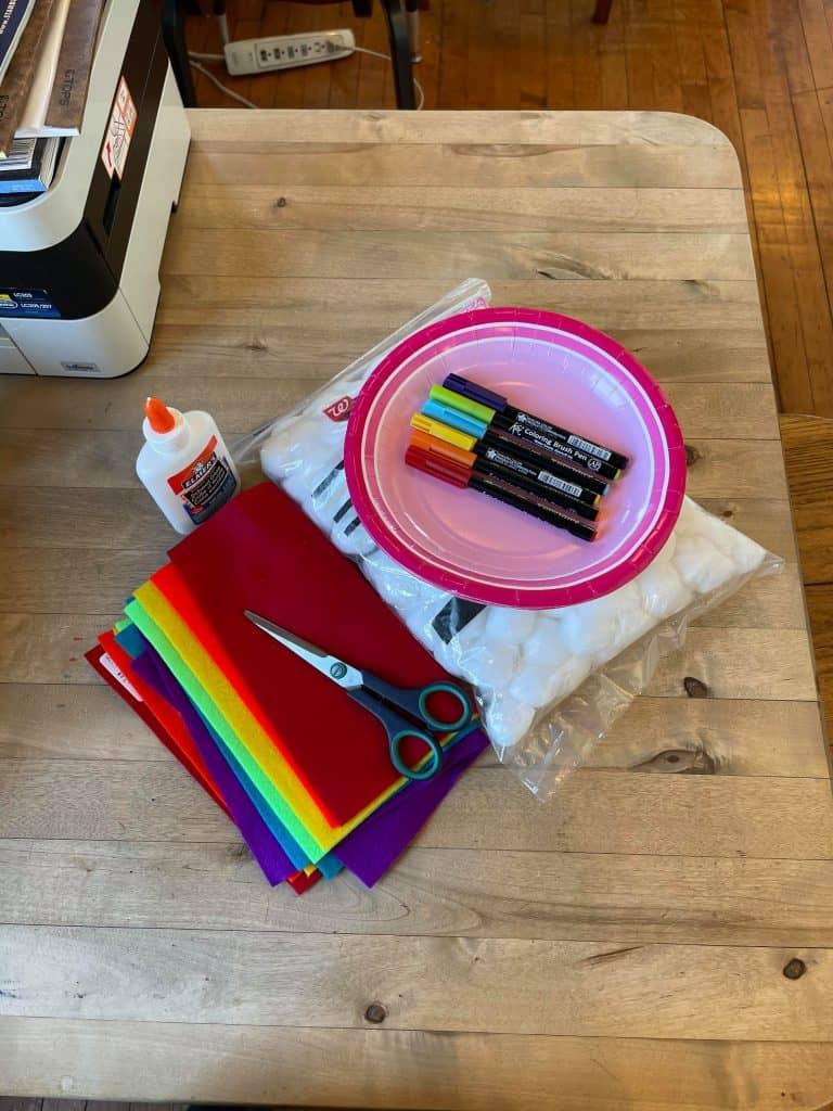 Rainbow Cloud Pre-K Craft Materials