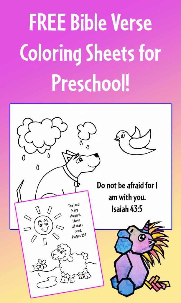 Bible Verse Coloring Sheets for Preschool
