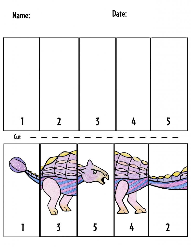 Preschool dinosaur puzzle