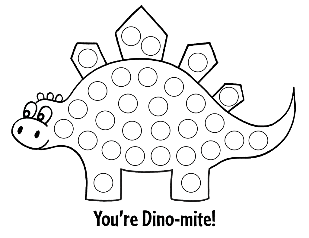 preschool dot dot sheet dinosaur themed