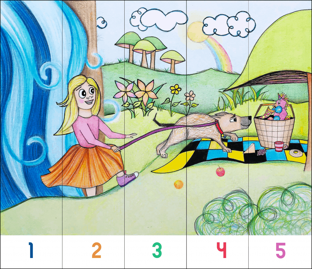 "FREE Preschool printable. ""My Hollydog"" puzzle."