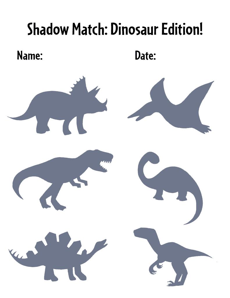 Preschool Dinosaur Lesson Pan activity sheet