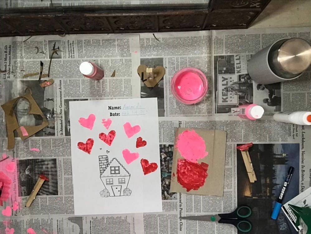 Heart Stamping House Template