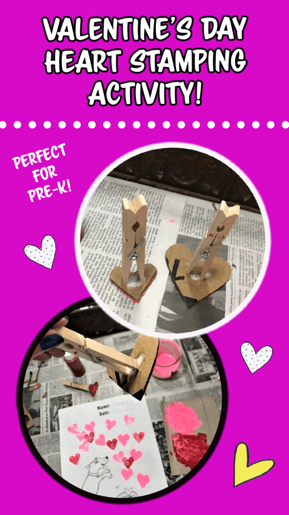 valentine's day heart stamping activity