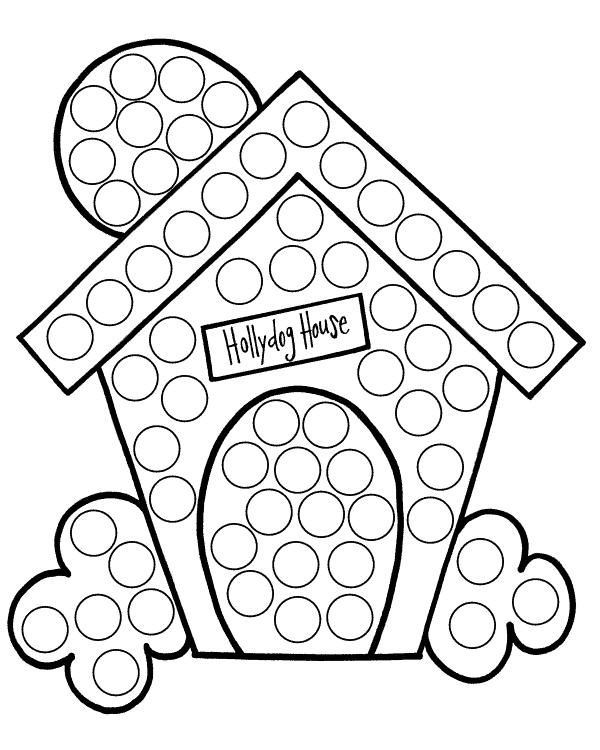 Hollydog dog house dot dot sheet