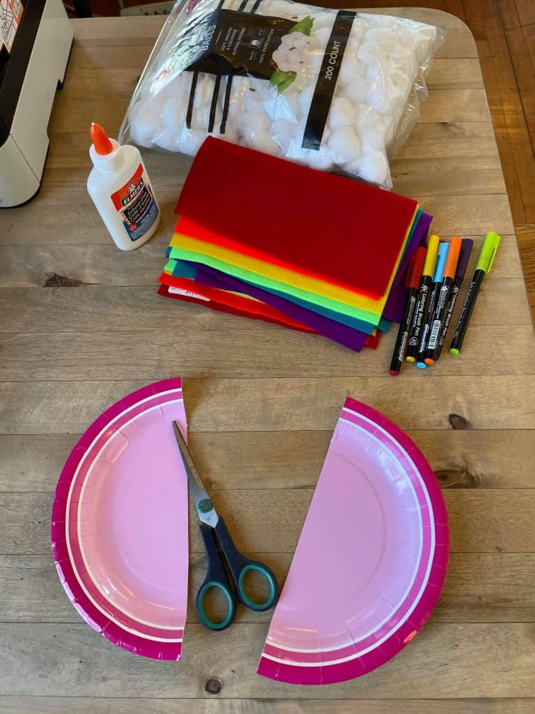 Paper Plate for Rainbow Cloud Pre-K Craft