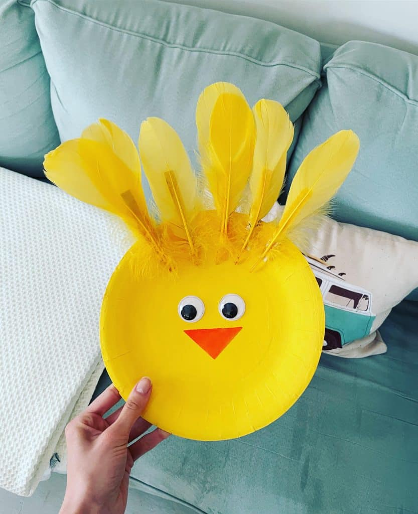 Yellow Baby Chick Paper Plate Craft