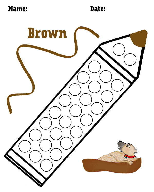Brown Hollydog Colors Dot Dot Pack