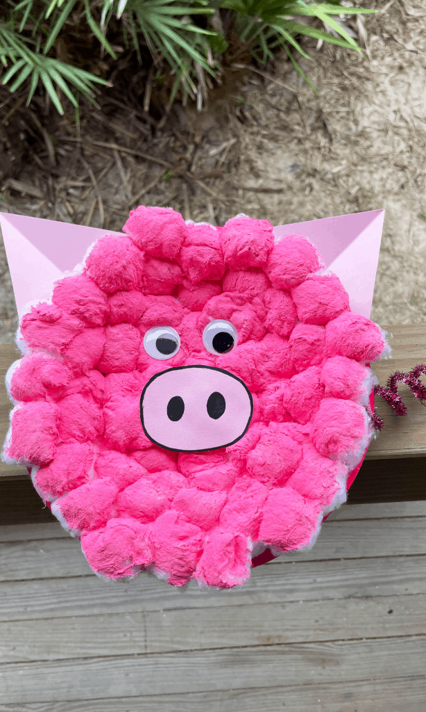 DIY Friendship Pig Paper Plate Activity Craft