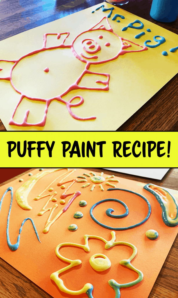 Puffy Painting Process Art for Pre-K