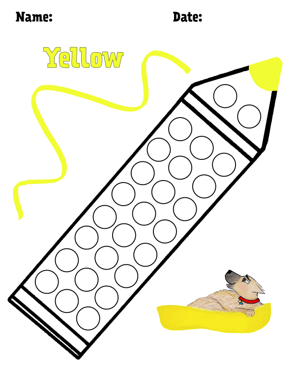 Yellow Hollydog Colors Dot Dot Pack