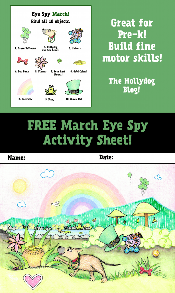 March Eye Spy Activity Sheet