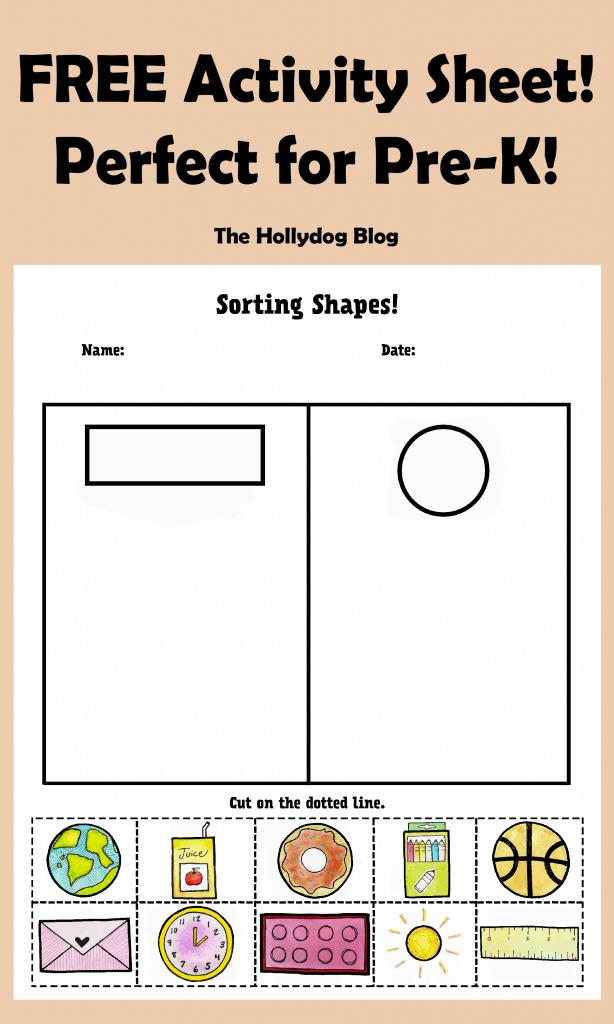 FREE Sorting Shapes Activity Sheet!
