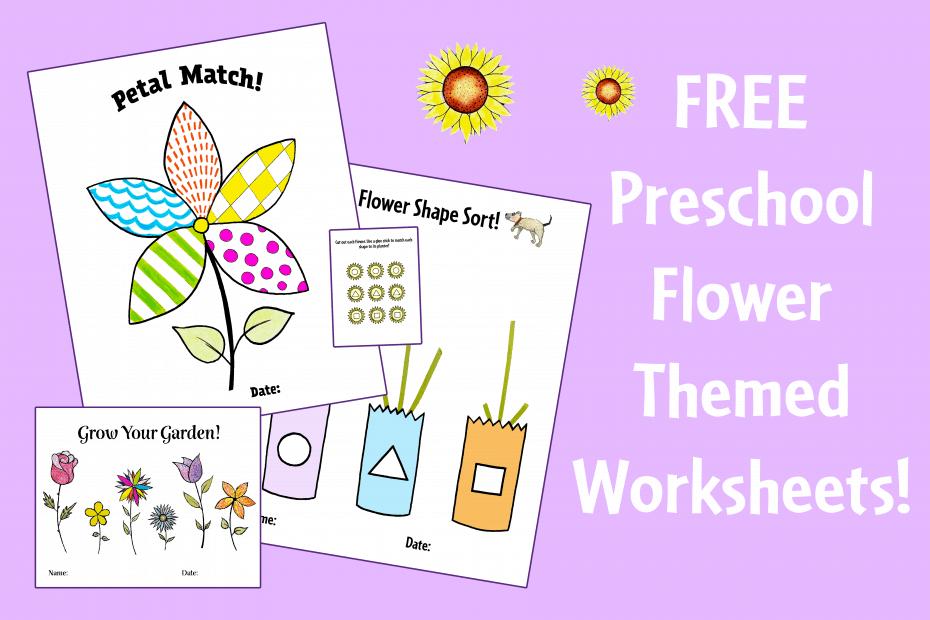 Flower Themed Preschool Worksheets