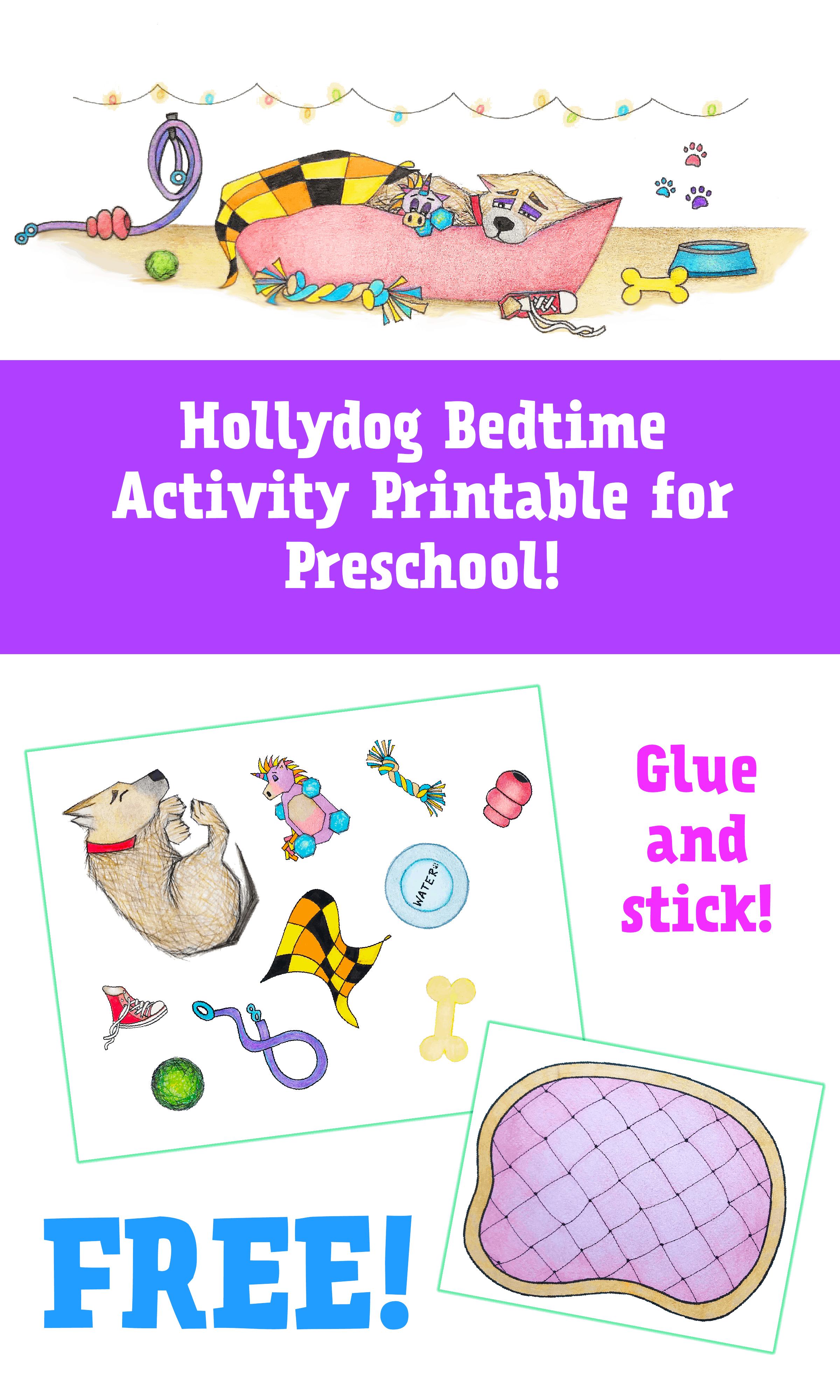 Hollydog Bedtime Activity Printable for Preschool