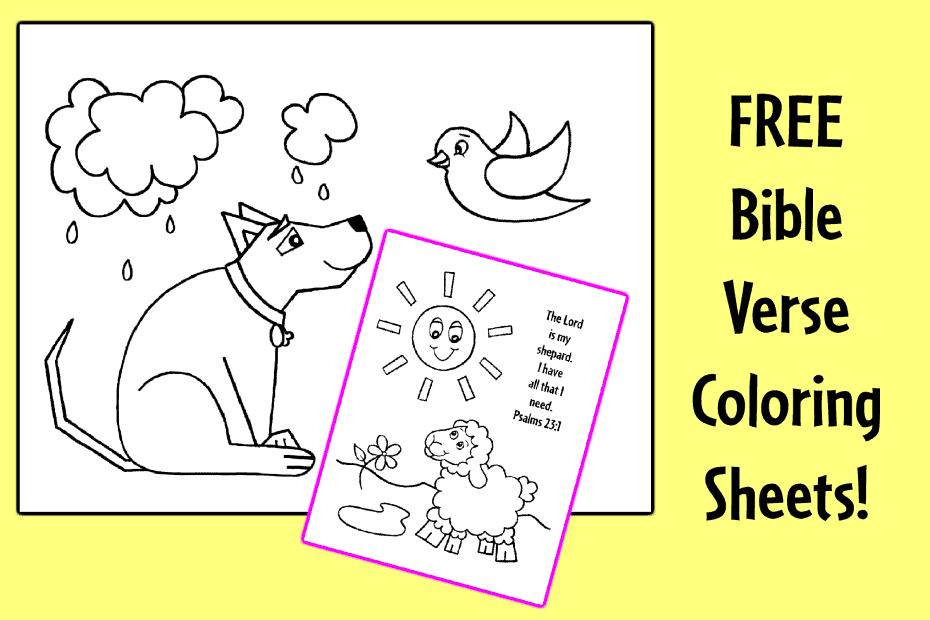 Bible Verse Coloring Sheets