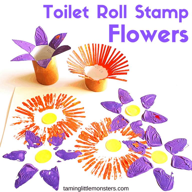 Toilet Paper Roll Flower Pre-K Craft