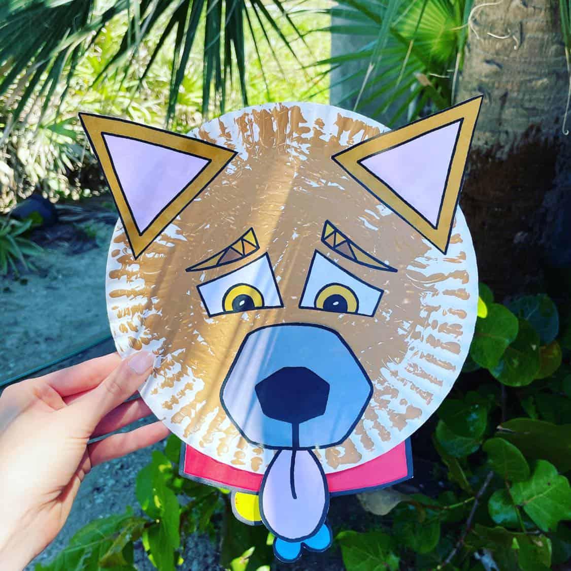 """My Hollydog"" paper plate craft!"
