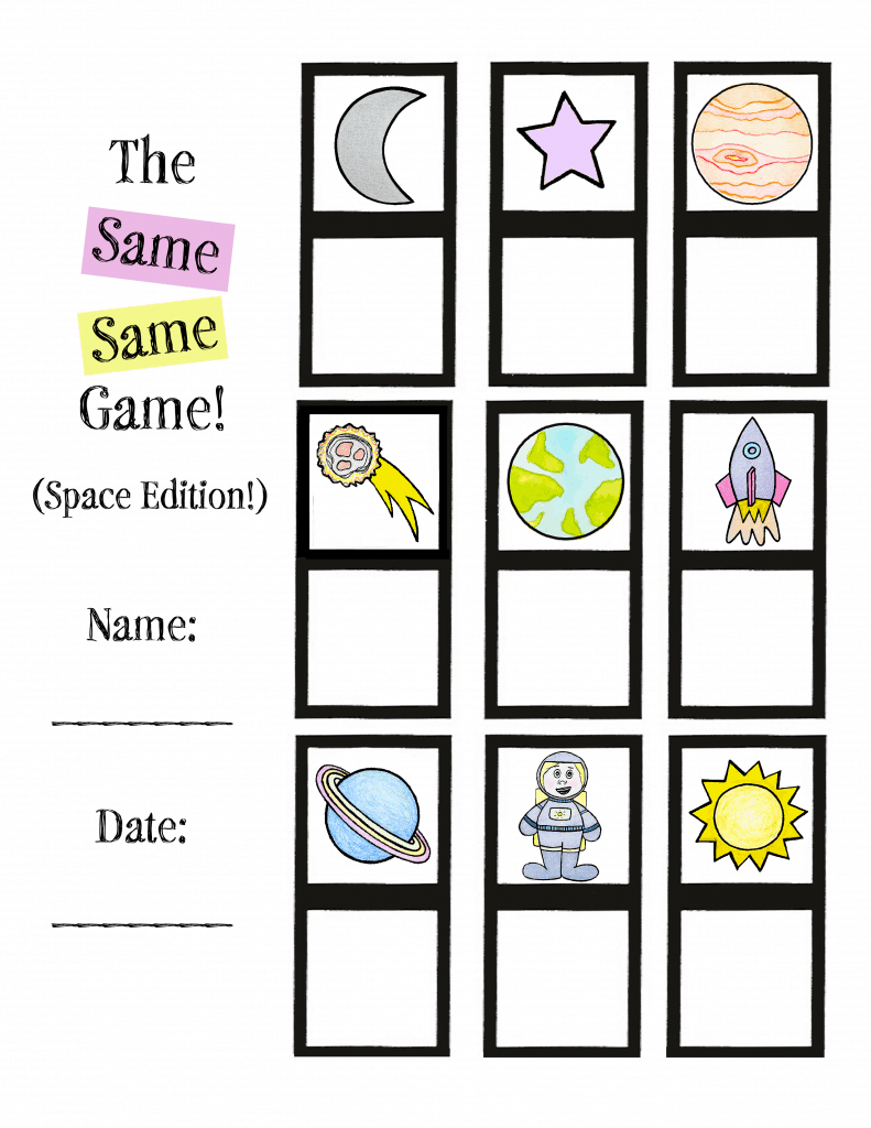 printable worksheets for outer space preschool lesson plan