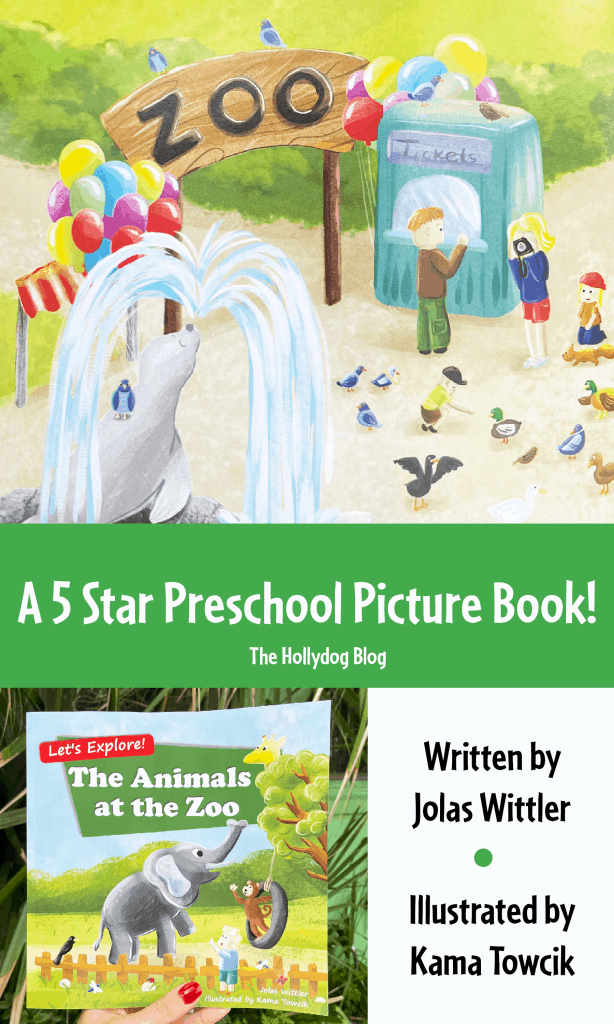 """""""The Animals at the Zoo"""" picture book for preschool"""