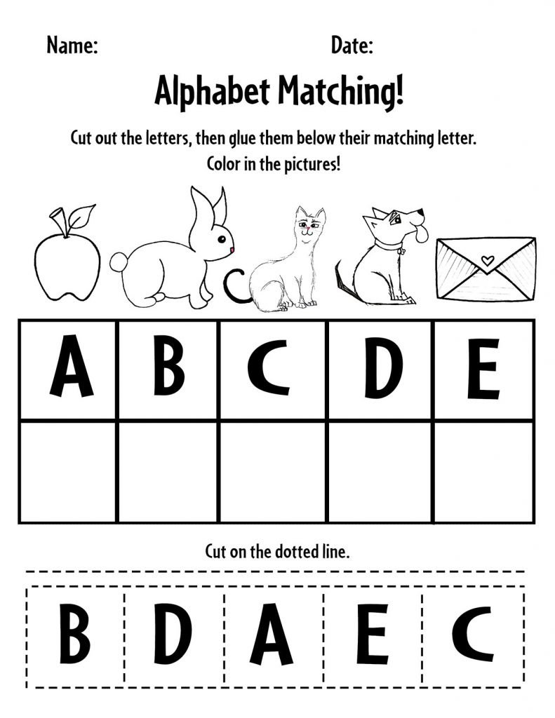 Alphabet Matching A-Z Activity Pack for Preschool